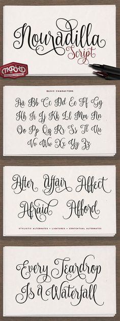 Nouradilla Script is a brilliant calligraphy font that is free until 17/05/16…