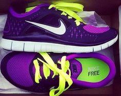 Nike. Purple. Shoes