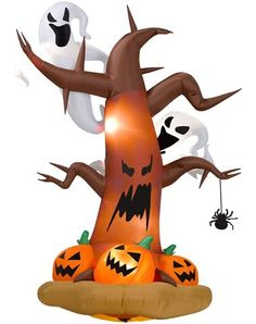 Airblown Inflatable Dead Tree With Pumpkins, Ghosts and Spider