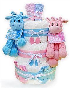 Twin Babies Diaper Cake