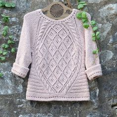 """This is @valentina_9020 's version of the """"Irish Dove"""" jumper. Isn't is just gorgeous? Would you like to make it too? You can find the #freepattern by clicking the link in our profile ❤  #dropsdesign #dropsfan #irishdove"""