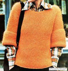 Pull Grosse Maille, Winter Jumpers, Bathing Beauties, Garter Stitch, Mode Style, Dress Patterns, Knit Crochet, Knitwear, Ideias Fashion