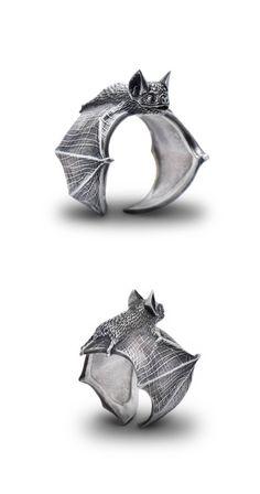 Bat ring by Alex Fox Jewelry Studio