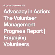 Advocacy in Action: The Volunteer Management Progress Report | Engaging Volunteers