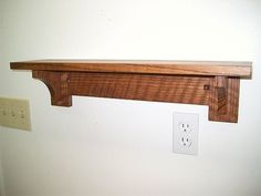 Mission Arts Crafts Style Plate Shelf