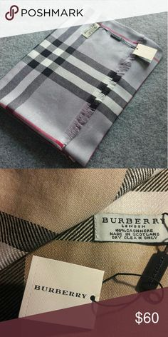 PLAID Cashmere Pashmina Winter Shawl NWT New plaid high quality scarf Cashmere pashmina shawl New in sealed package Original brand logo and tag Burberry Accessories Scarves & Wraps