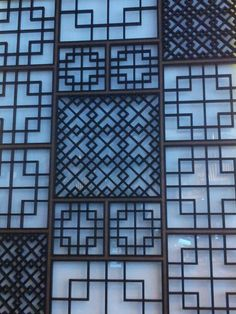 Korean door decoration Korean Design, Asian Design, Korean Traditional, Traditional House, 3d Templates, Chinese Architecture, Amazing Architecture, Oriental Furniture, Grill Design