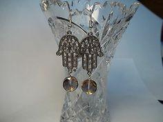 Hamsa & AB Beads Earrings ...made by Chubbychick