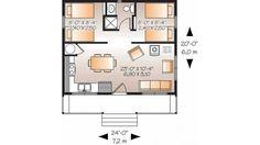 <500 SF, 2 bedroom cabin plan