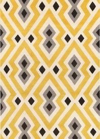 Jonathan Adler - Syrie Yellow - Yellow Gray patterned rug