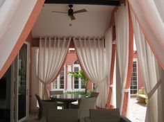 Medium size of decorating make outdoor patio curtains romantic home depot pat sliding door ideas diy Thermal Drapes, Outdoor Curtains For Patio, Small Entryways, Custom Drapes, Romantic Homes, Curtain Designs, Home Decor Styles, Home Decor Bedroom, Home Depot
