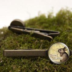 Pince à cravate vintage lapin d'alice horloge cabochon retro romantique