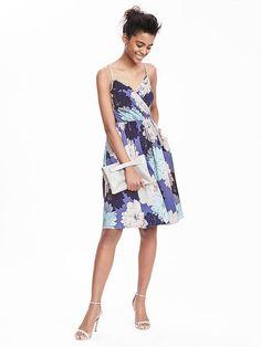 Strappy Crossover Vee Dress