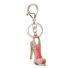 Marvin Cook Women Bag Charms Keychain Car Keys Holder Keyring Crystal High  Heel Shoes Key Chains 5f22eb2793ab