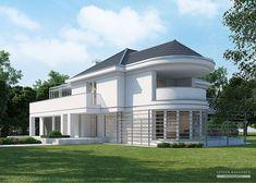 Projekt domu LK&1114 Row House Design, Village House Design, Kerala House Design, Home Room Design, Home Design Plans, Modern House Design, Dream House Plans, Modern House Plans, House Floor Plans