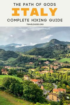 How to hike The Path of Gods from Bologna to Florence in Italy. Practical tips for preparing for your slackpacking trek along this beautiful offbeat hiking route that will take you through rural Itali Hiking Routes, Hiking Guide, Backpacking Tips, Italy Travel Tips, Europe Travel Guide, Hiking Europe, Travel Destinations, Travel List, Travel Goals