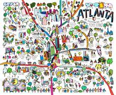 YOYO FERRO Atlanta Illustrated map
