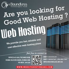 Boundless Technologies FZCO offers best packages in webhosting and domain hosting services in Dubai. Our hosting servers are much affordable and reliable. Dedicated and VPS hosting also provided with Cpanel and WHM options. We have best expertise in windows and Linux web hosting in UAE.  Contact us for more info: http://www.websitehostinguae.com
