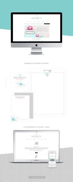 Ingenuwitty Website + Print Design — Printed Ink Designs