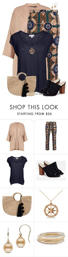 """""""Printed cropped pants."""" by an-nao ❤ liked on Polyvore featuring Boohoo, Weekend Max Mara, Velvet by Graham & Spencer, JustFab, JADEtribe, Allurez and Kendra Scott"""
