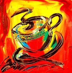 Coffee Painting  - Coffee Fine Art Print