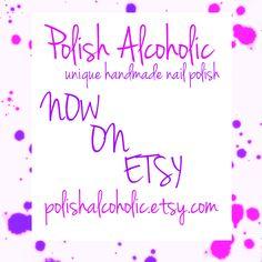 polishalcoholic.etsy.com Swatch, Indie, Nail Polish, Nail Art, Nails, Awesome, Projects, Handmade, Etsy