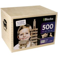 Bouwplankjes BBlocks In Kist 500 Stuks