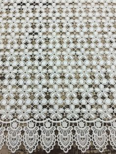 """Ivory #KimKardashian Lace 52"""" wide, $26.95/yd #laceoverlay #specialoccasion #swim2015 #onlineshopping #textilediscount"""