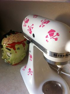 kitchenaid mixer art 16 skull cupcake decal from walking dead promotions