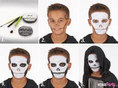 Maquillage squelette garçon