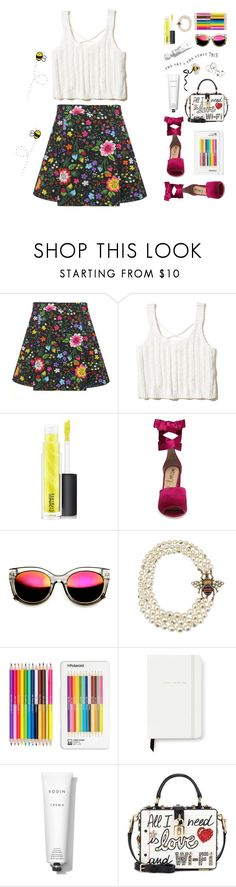 """""""Queen Bee"""" by sound-of-snow ❤ liked on Polyvore featuring Victoria, Victoria Beckham, Hollister Co., MAC Cosmetics, Sam Edelman, ZeroUV, Gucci, Polaroid, Kate Spade, Rodin and Dolce&Gabbana"""