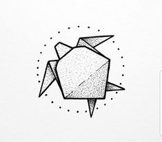 origami sea turtle tattoo