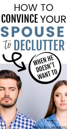 How to get your spouse to declutter. Trying to get your spouse to help you declutter the house? It can be tricky, but it's not impossible. Learn how to get your spouse to help you declutter when they don't want to. #declutter #minimalism #clutterfree Life Organization, Organizing Ideas, Clean House Schedule, Free Tips, House Cleaning Tips, Learning Games, Stress Free, Family Activities, Simple Living