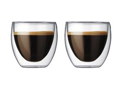 These Double Wall Espresso Shot Glasses make your morning cup of coffee super sleek. Love me Some Bodum