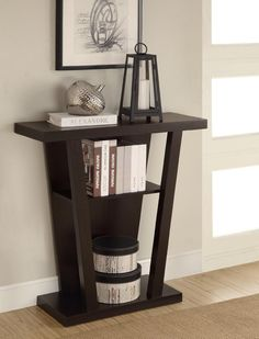 Amazon.com - 12 inches deep; may be narrow enough to use in entryway!! AmazonSmile - Coaster Console Table - Sofa Tables