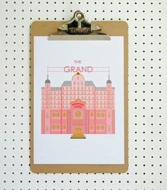 Grand Budapest Hotel Inspired Print A4 Poster Pink