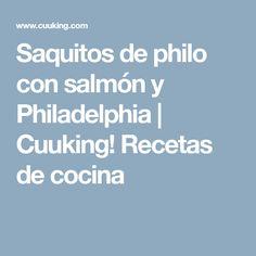 Saquitos de philo con salmón y Philadelphia   Cuuking! Recetas de cocina