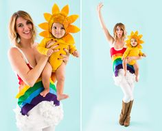6 Genius DIY Mom and Baby Halloween Costumes via Brit + Co.