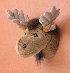 "11"" Moose Head Plush Stuffed Animal Toy Mount - New"