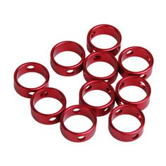 af658467d Red Aluminum Tent Awning Cord Rope Fastener Guy Line Runners Tensioners in  Sporting Goods
