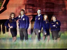 FFA officers picture (Note: all girls wearing skirt :) , correct OD for once)