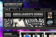"""Ideazione, Progettazione e Sviluppo Portale """"www.automaticstop.biz (Bella - Abbigliamento Uomo Donna)""""."""
