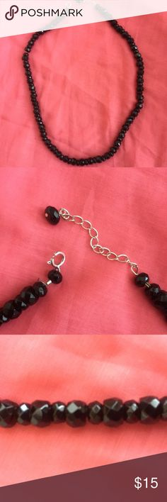"Cut stone necklace. Black stones. Adjustable. Solid stones. Adjustable from 18-20 1/2"" Accessories"