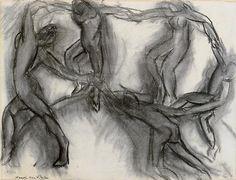 artemisdreaming: Henri Matisse (Le Cateau-Cambrésis, 1869 - Nice, 1954) Dance (La Danse), circa 1910 Charcoal on laid paper Ingres48 x 63.5 cmLegacy Agutte-Sembat in 1923Succession H. Matisse / photography: Museum of Grenoble Queue