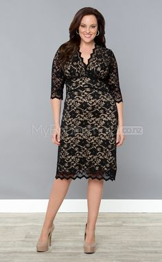 546e2e5a05a Lace Sheath Column V-neck Half Sleeve Tea-length Plus Size Bridesmaid Dress