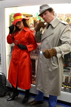 Carmen san diego and inspector gadget Halloween couples costume!  sc 1 st  Pinterest & 39 best Every Day Hats That Make Great Halloween Costumes images on ...