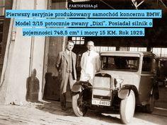 """Pierwszy seryjnie produkowany samochód koncernu BMW. Model 3/15 potocznie – Pierwszy seryjnie produkowany samochód koncernu BMW. Model 3/15 potocznie zwany """"Dixi"""". Posiadał silnik o pojemności 748,5 cm³ i mocy 15 KM. Rok 1929."""