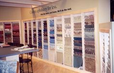 Neat tidy fabric display