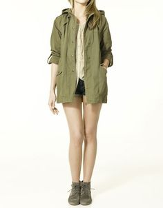 PARKA WITH HOOD - Cardigans - Collection - TRF - ZARA United States - StyleSays