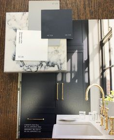 What do you think of using Hale Navy for a kitchen cabinet colour? I've paired it with Decorator's White for… navykitchencabinets Navy Kitchen Cabinets, Kitchen Cabinet Colors, Kitchen Decor, Kitchen Ideas, Kitchen Hardware, Kitchen Designs, Home Renovation, Home Remodeling, Kitchen Renovations